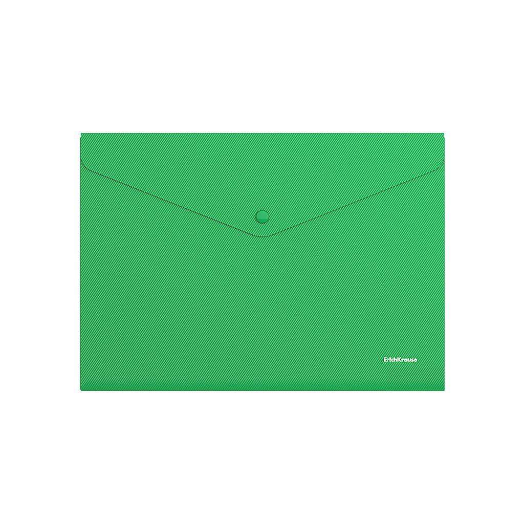 """Анонс-изображение товара папка-конверт с кнопкой erich krause """"classic"""", a4, до 120л, непрозрачная,зелен, 0,18мм, 42925,47111"""